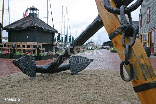 istock Large Anchor near Boat Basin 182660310