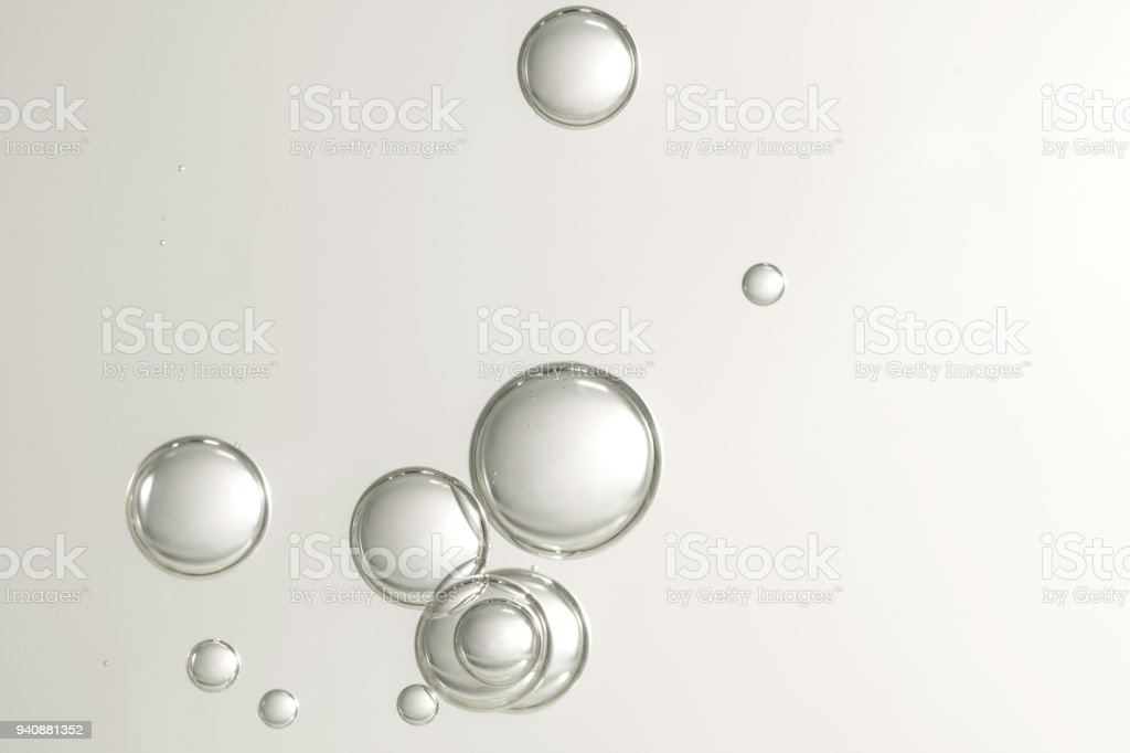 Large and beautiful bubbles stock photo