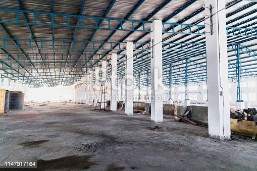 Warehouse, Business, Empty - Image of a large empty warehouse in India