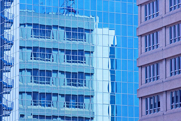 Large and modern buildings stock photo
