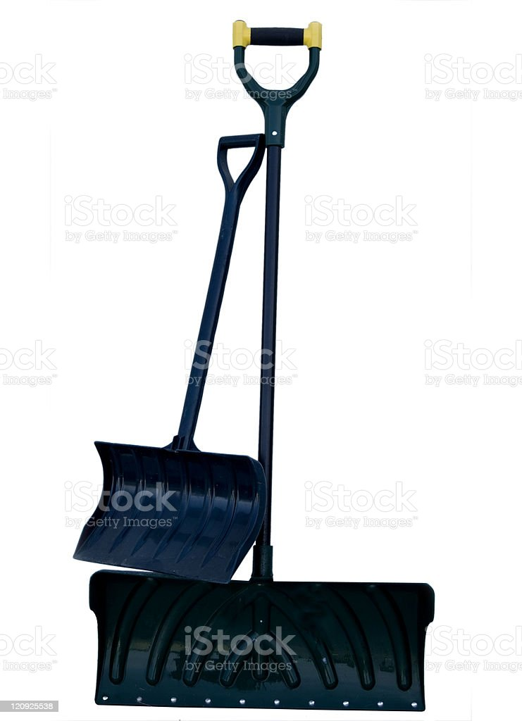 Large and Small Snow Shovels royalty-free stock photo