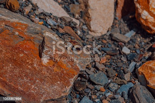 istock Large and small stones of different colors 1053357894