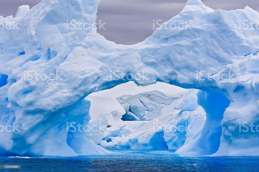 Large Antarctic iceberg royalty-free stock photo