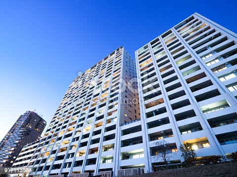 istock Large apartment at dusk 917113864