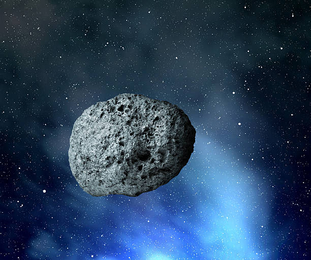 large asteroid stock photo