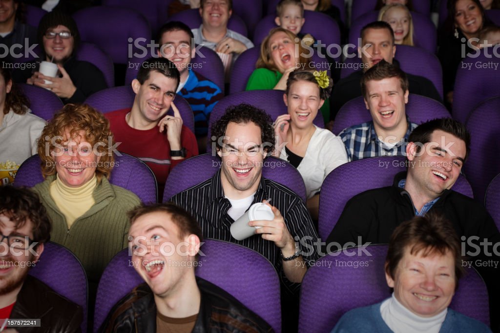 Large Audience in a Movie Theater royalty-free stock photo