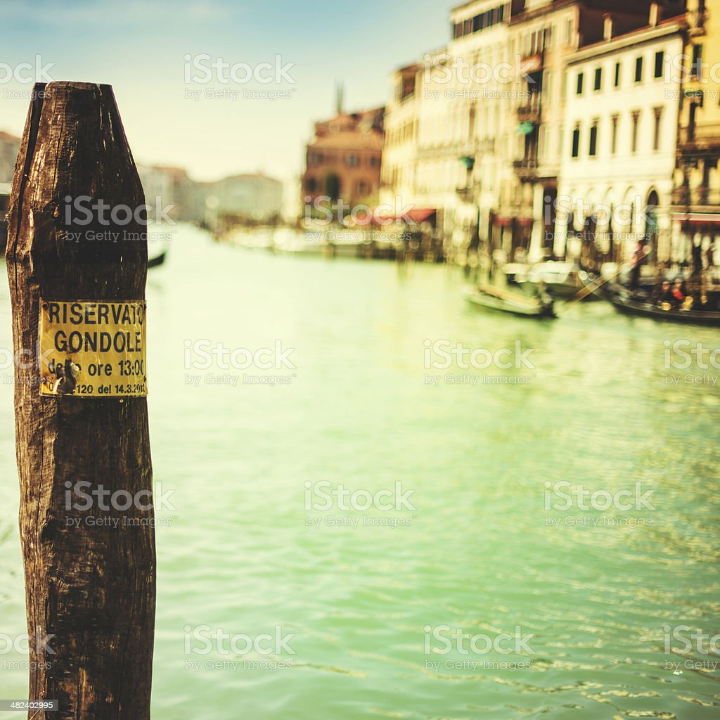 canal grande background royalty-free stock photo