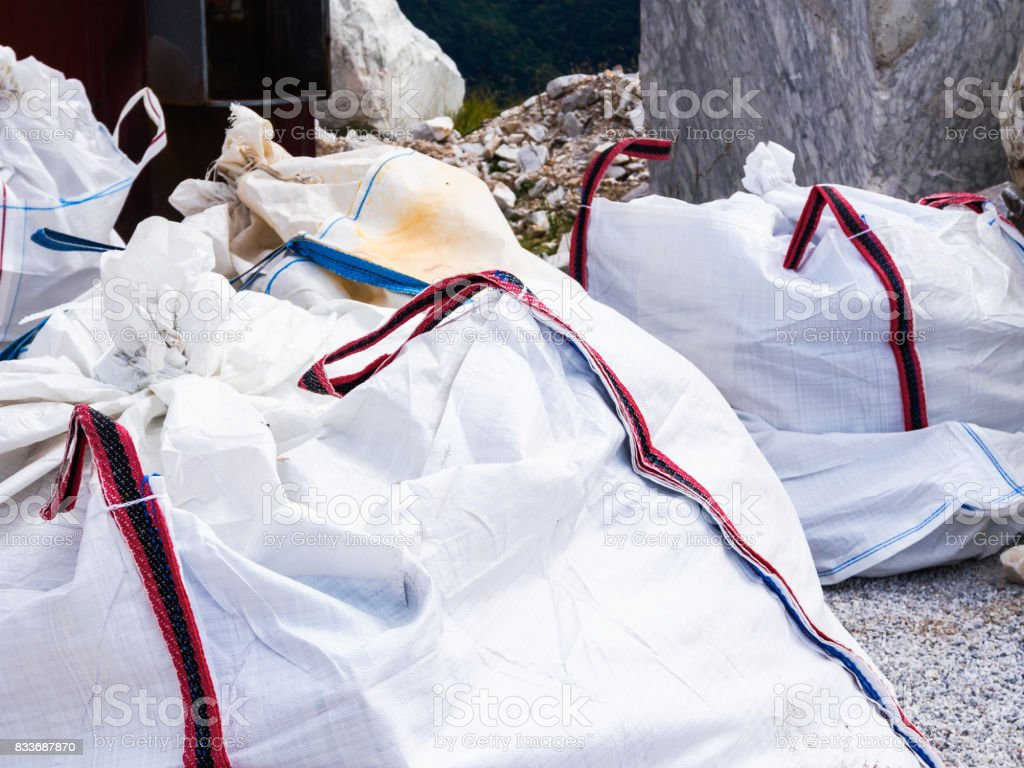 Large bags for special waste collection - foto stock