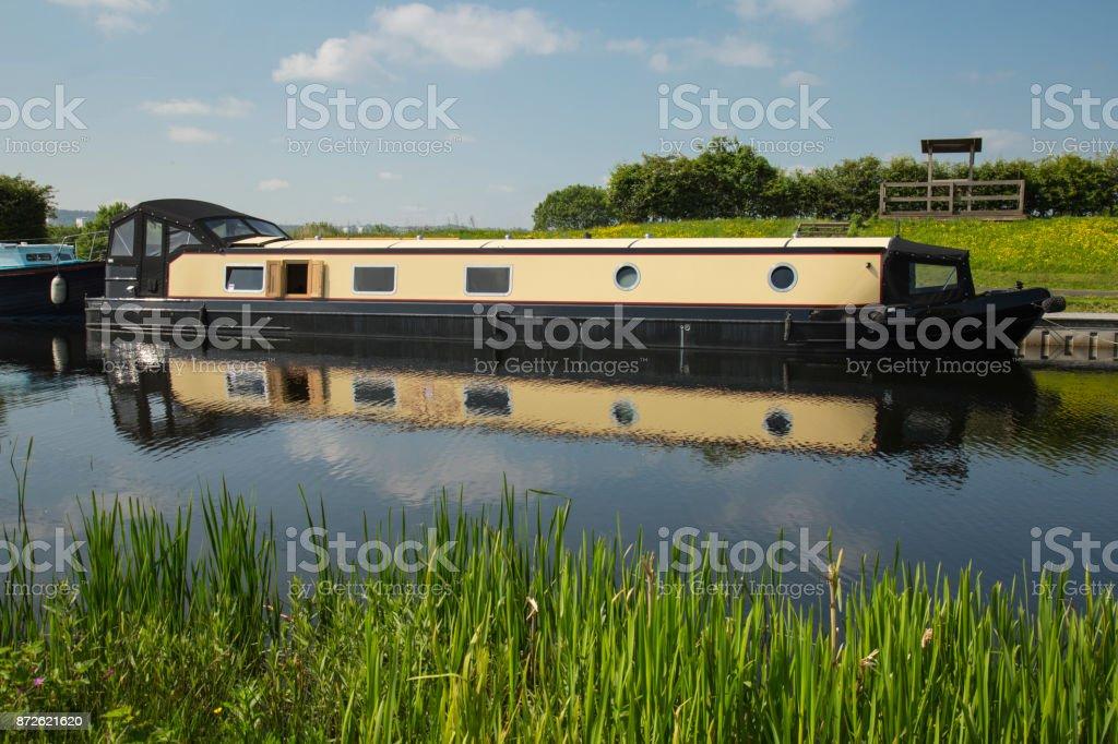 Large barge stock photo