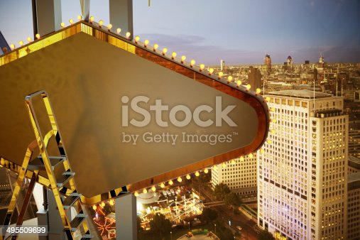 158172107 istock photo Large bilboard over the city background 495509699