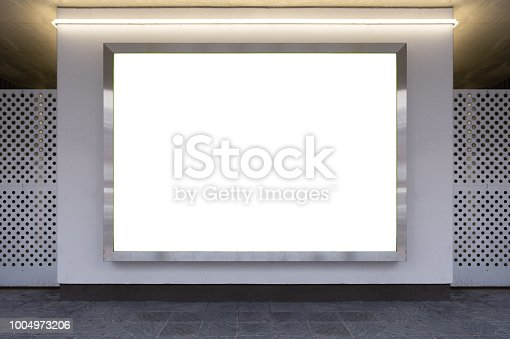 istock large billboard. black advertising led board empty space for text. 1004973206