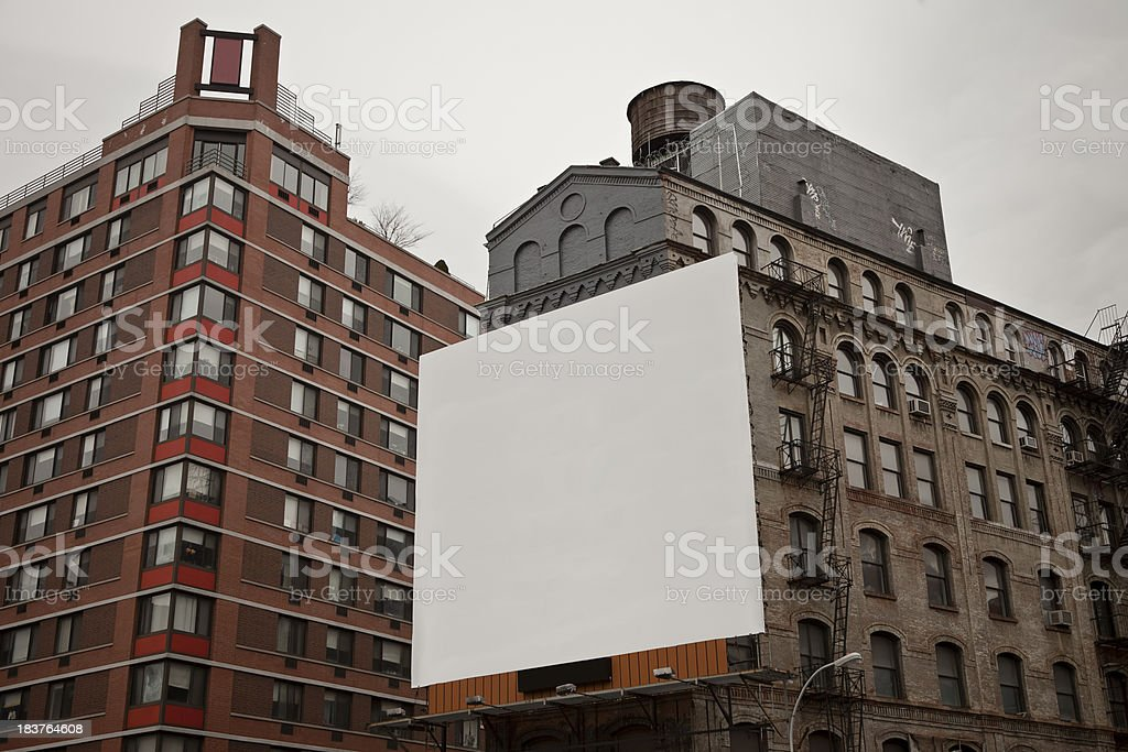 Large Billboard in the City stock photo