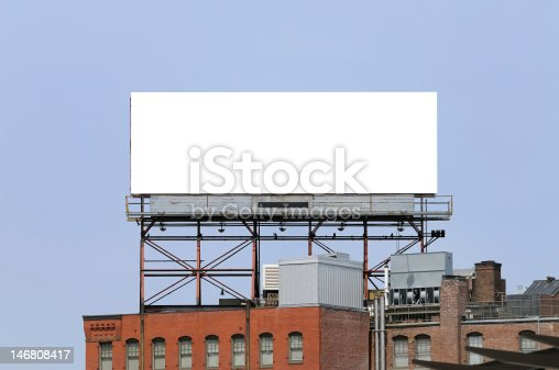 istock Large billboard on the top of a building in a city 146808417