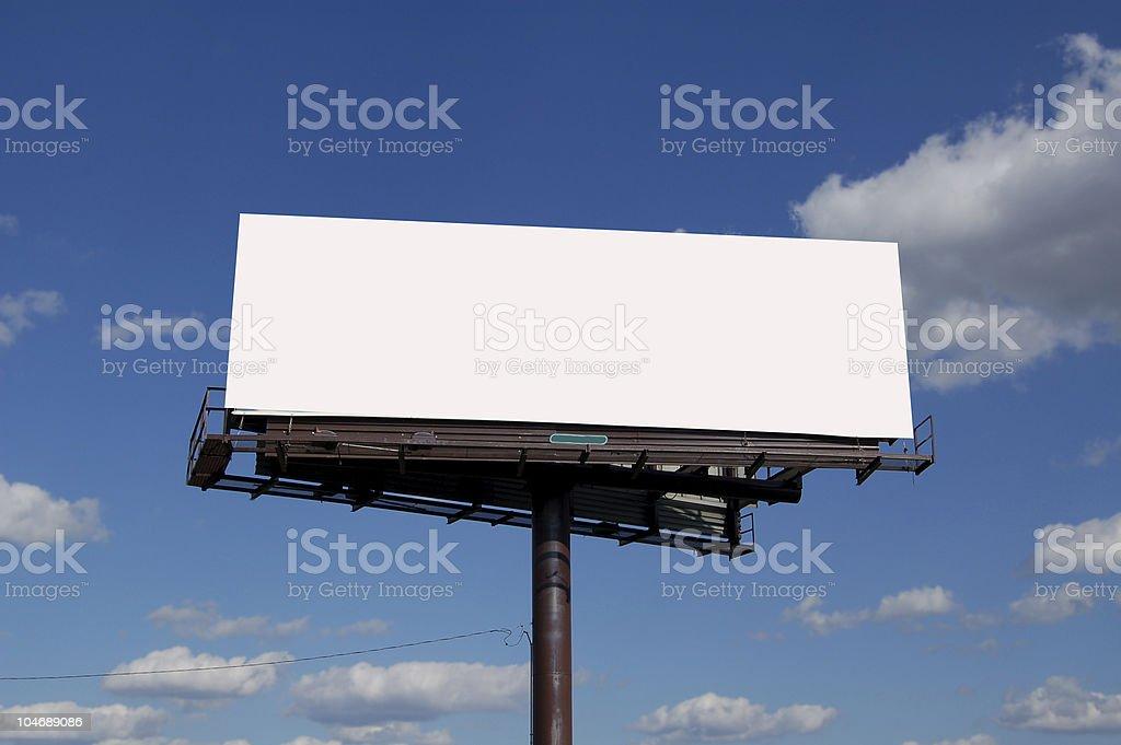 large billboard royalty-free stock photo