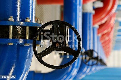 Large black wheel valve