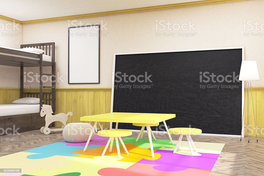 Large Blackboard In Childrens Room Stock Photo Download Image Now Istock