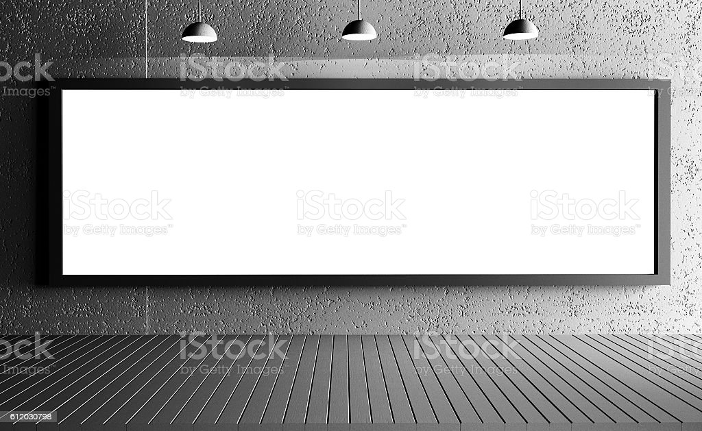 Large blank banner stock photo