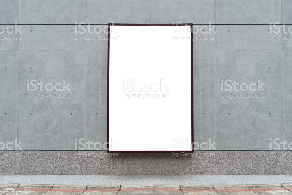Large blank billboard on a street wall,  banners with room to add your own text royalty-free stock photo