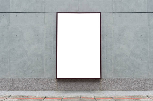 large blank billboard on a street wall,  banners with room to add your own text - poster stock pictures, royalty-free photos & images