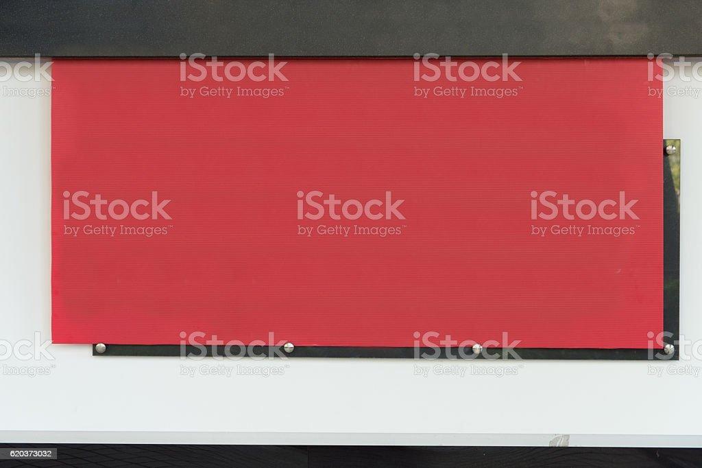 Duży pusty billboard na ulicy ściany zbiór zdjęć royalty-free
