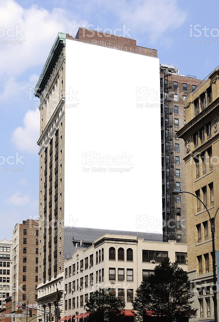 city building side. Large Blank Billboard On The Side Of A City Building Royalty Free Stock  Photo Blank Billboard On The Side Of A City Building Stock Photo