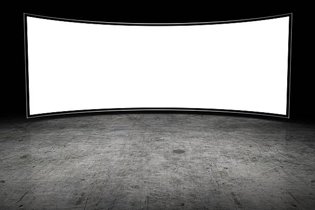 große leere-fernseher - große leinwand stock-fotos und bilder