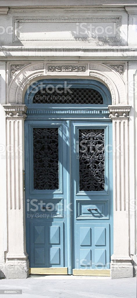 large blue french doorway royalty-free stock photo