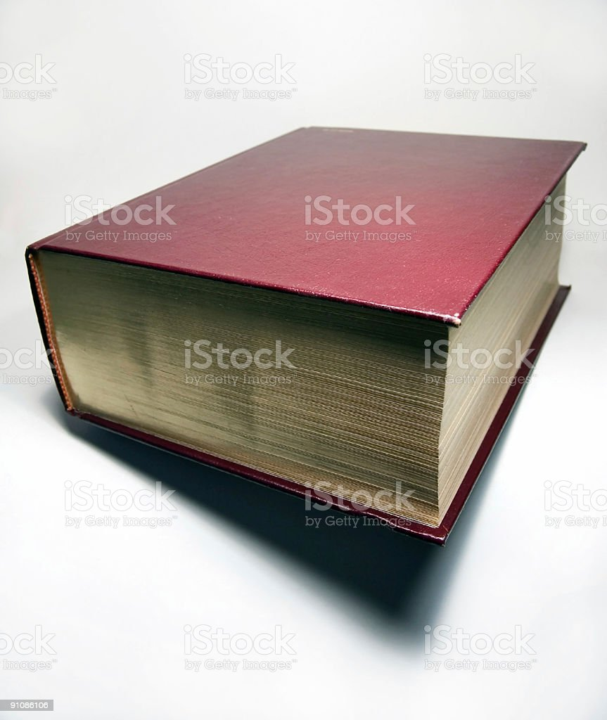 Large Book With Gilding royalty-free stock photo