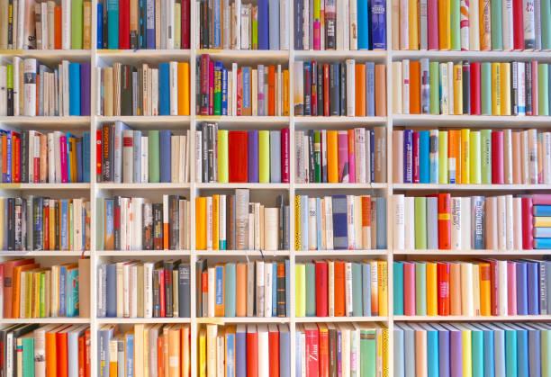 Große Bücher Regale voll gepackt – Foto