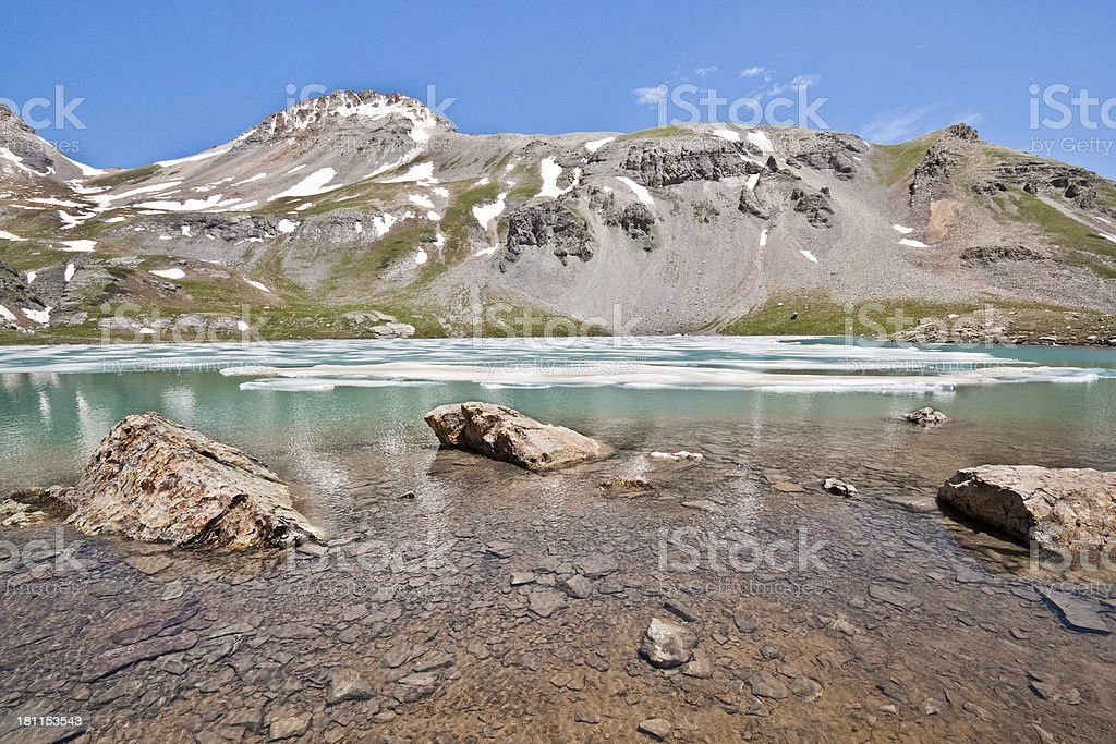 Boulders in Upper Ice Lake royalty-free stock photo