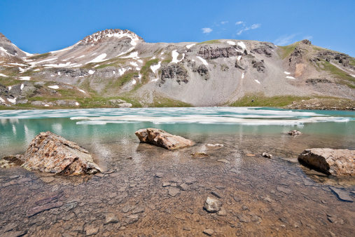Boulders In Upper Ice Lake Stock Photo - Download Image Now