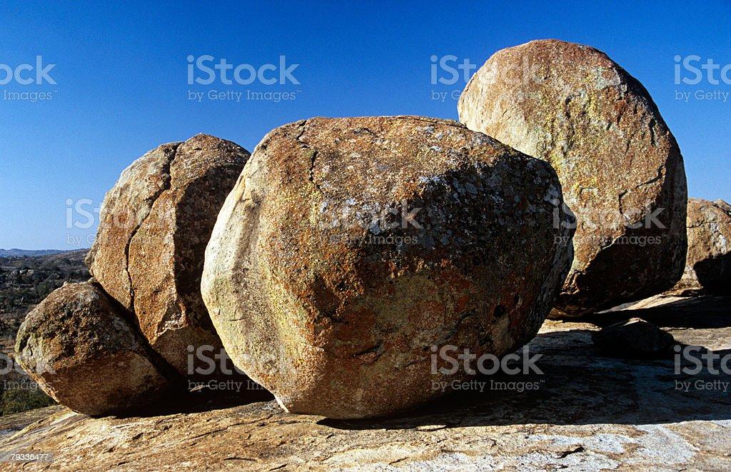 큰 바위와 royalty-free 스톡 사진
