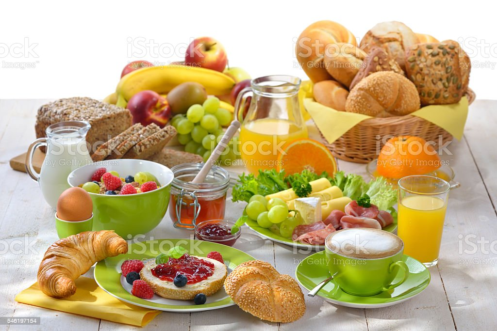 Large breakfast stock photo