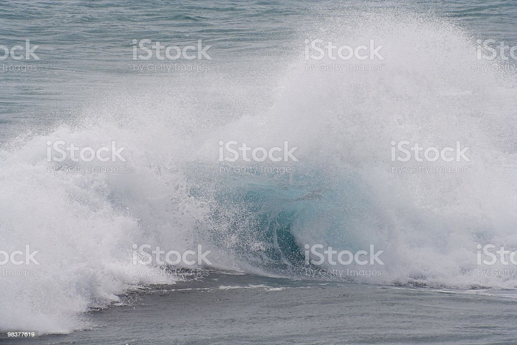 Large Breaking Wave royalty-free stock photo
