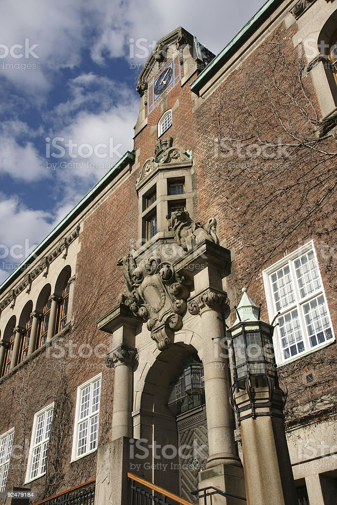 Large brick building royalty-free stock photo
