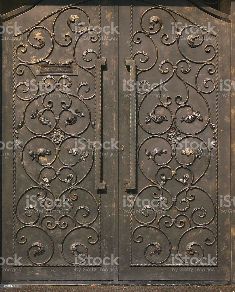 Large Bronze Gate royalty-free stock photo