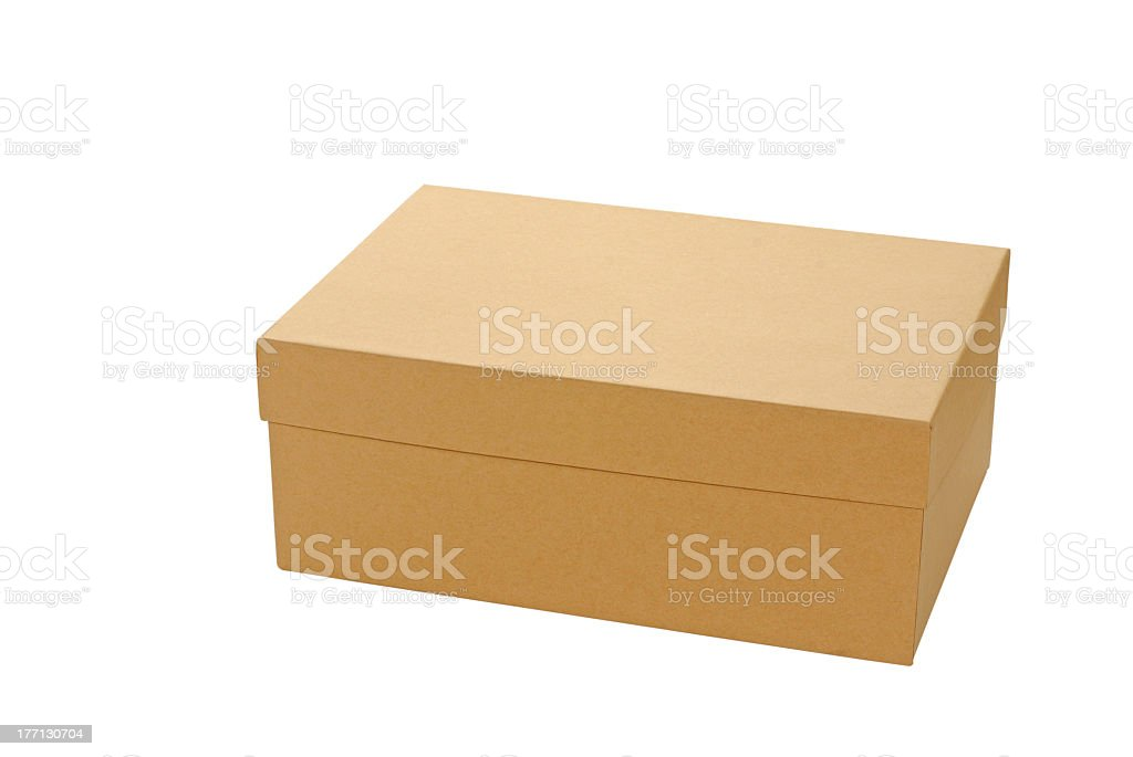Large brown box suitable for storing shoes royalty-free stock photo