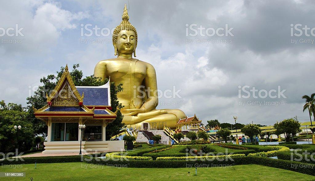large Buddha royalty-free stock photo