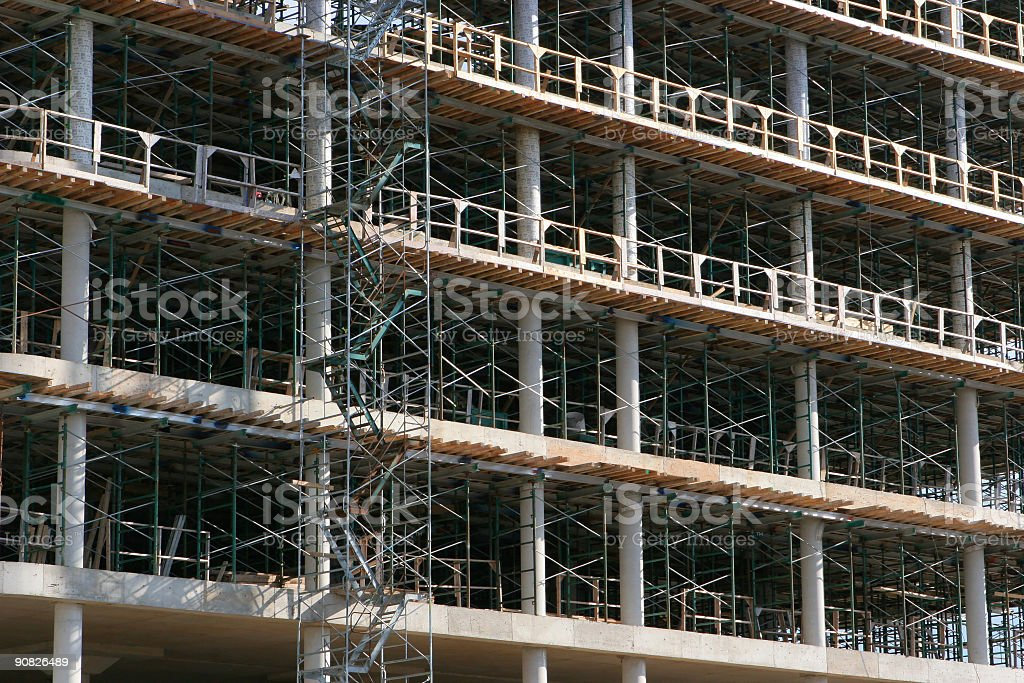 Large Building in Construction stock photo