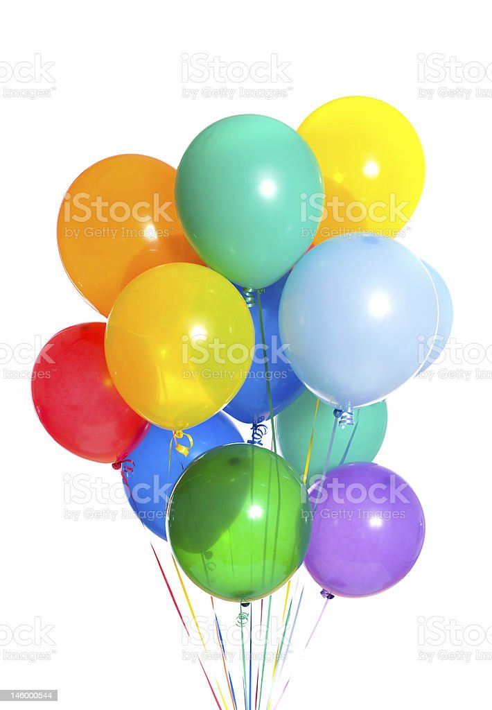 A large bunch of vibrant colored balloons royalty-free stock photo