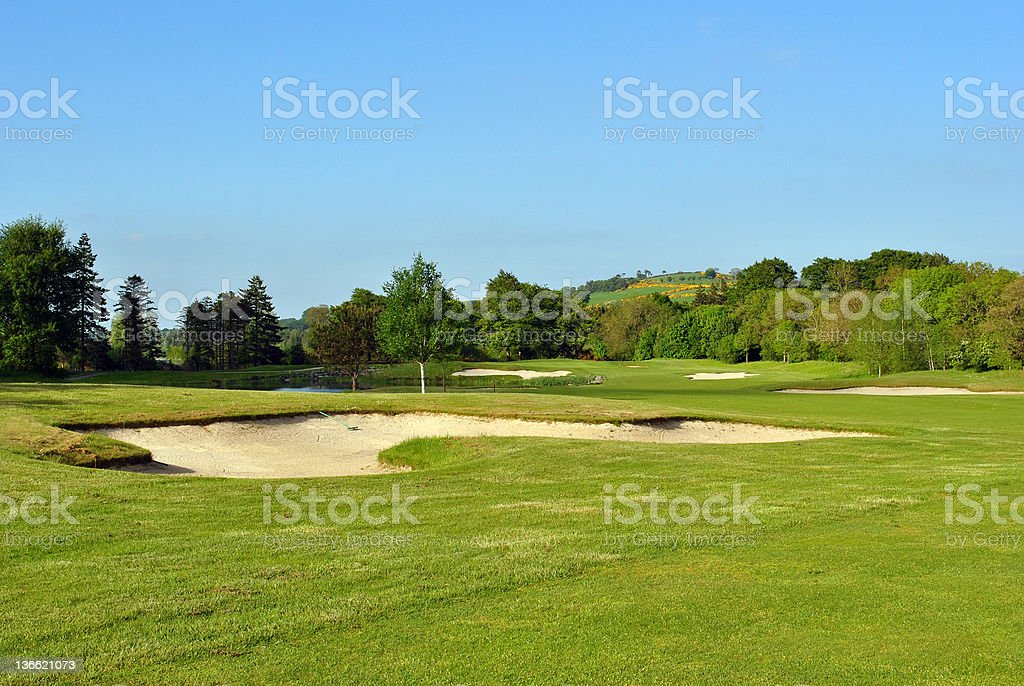 large bunker on a golf course royalty-free stock photo