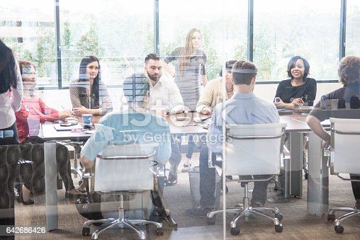 istock Large Business Meeting in a Conference Room 642686426