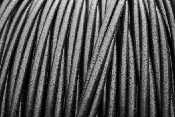 Large cable drum - telecommunications Large cable drum - telecommunications cable tv stock pictures, royalty-free photos & images