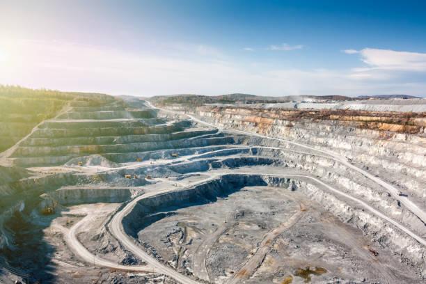 Großen kalkhaltigen Steinbruch – Foto