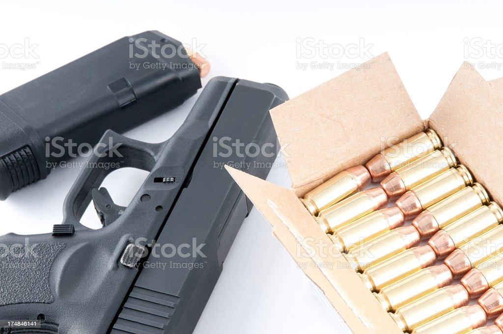 Large Caliber Handgun royalty-free stock photo
