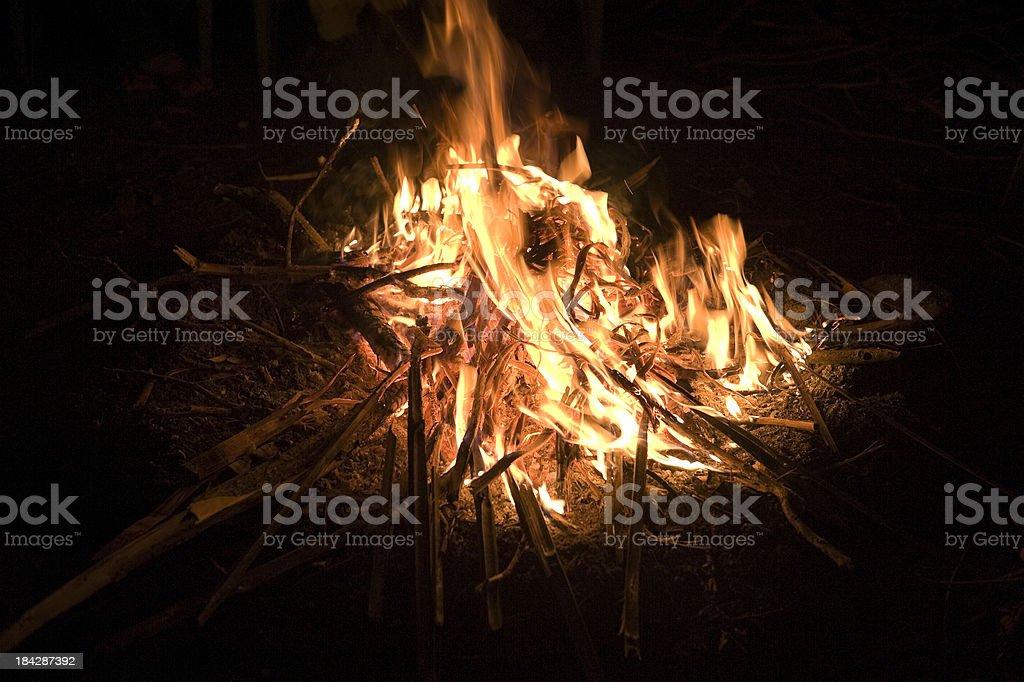 large campfire