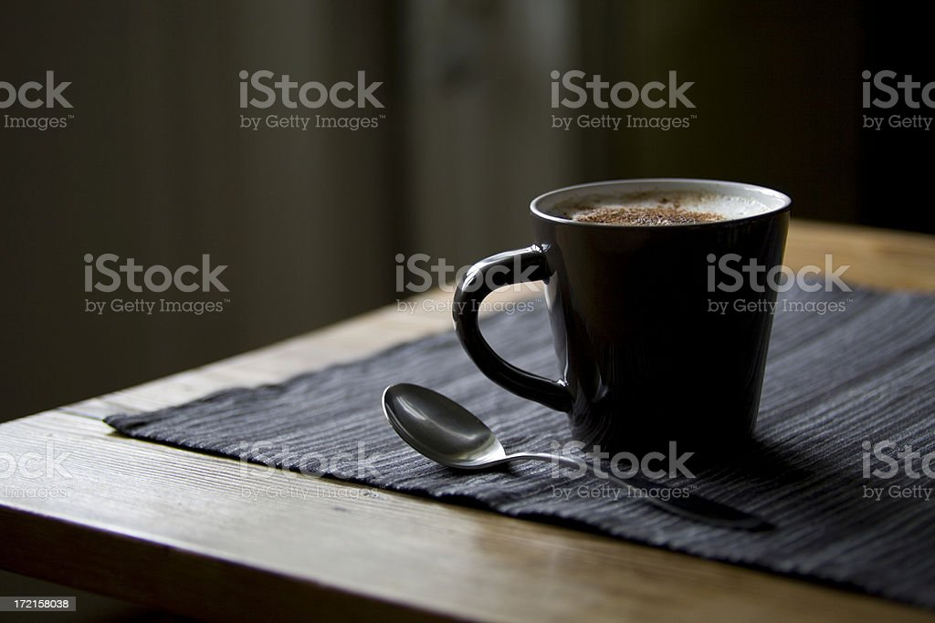 Large cappuccino royalty-free stock photo