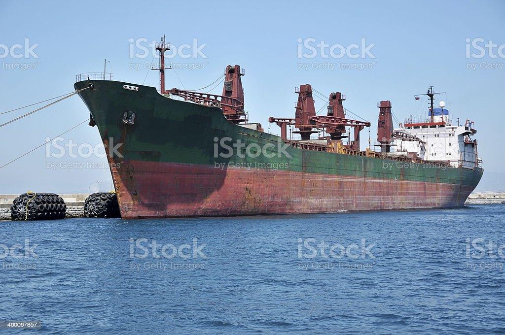 Large Cargo Ship, Gibraltar royalty-free stock photo