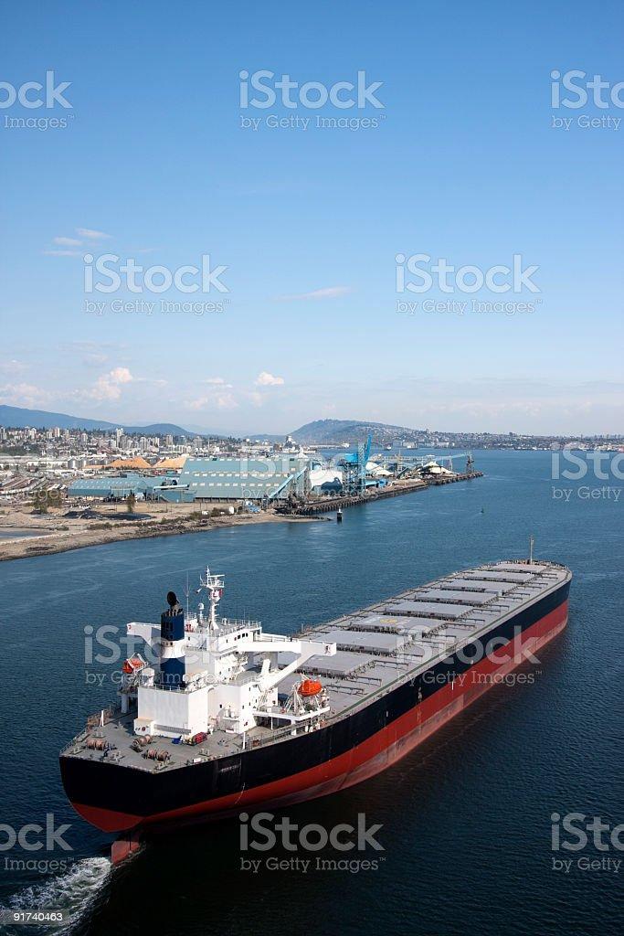 Large Cargo Ship stock photo