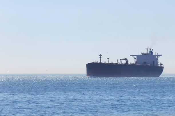 Large cargo ship tanker stock photo